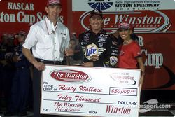 Rusty Wallace, ganador de la pole en The Winston