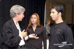 Kika Concheso con Bruno y Jana Junqueria