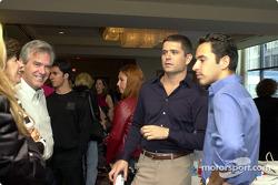 Gil de Ferran et Helio Castroneves, coulisses