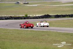 Greg Williams, MGA, double David Littlefield, MG Midget