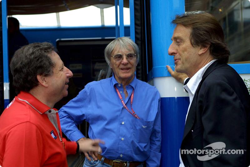 Discussion between Jean Todt, Bernie Ecclestone ve Luca di Montezemolo