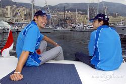 Jenson Button y Giancarlo Fisichella disfrutando de la vida de Mónaco