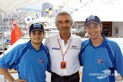 Giancarlo Fisichella, Flavio Briatore y Jenson Button