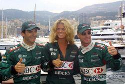 Pedro de la Rosa, Rachel Hunter et Eddie Irvine