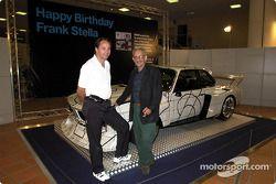 Vendredi, 65e anniversaire de Franck Stella : Gerhard Berger et Frank Stella