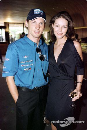 Jenson Button et sa petite amie Louise au bal du GP de Formule 1, Monte-Carlo Sporting Club