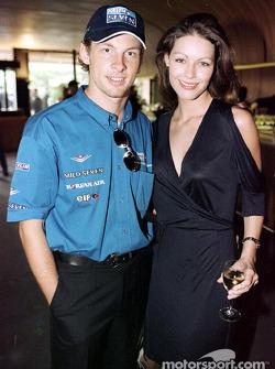 Jenson Button y su novia Louise en la Recepción del Gran Premio de F1, El Club Deportivo Montecarlo,