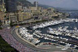 Le port de Monaco et le circuit