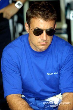 Jean Alesi avant la course