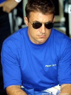 Jean Alesi antes de la carrera