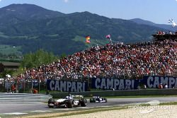 Early race, David Coulthard started his comeback to front