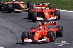 Michael Schumacher, Rubens Barrichello ve Jos Verstappen