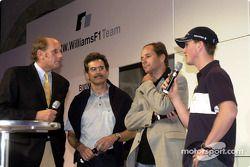 BMW WilliamsF1 Team Fashion Show: Hans Stuck, Dr. Mario Theissen, Gerhard Berger et Ralf Schumacher