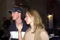Fashion Show del Equipo BMW WilliamsF1: Ralf Schumacher y su novia, Cora Brinkmann