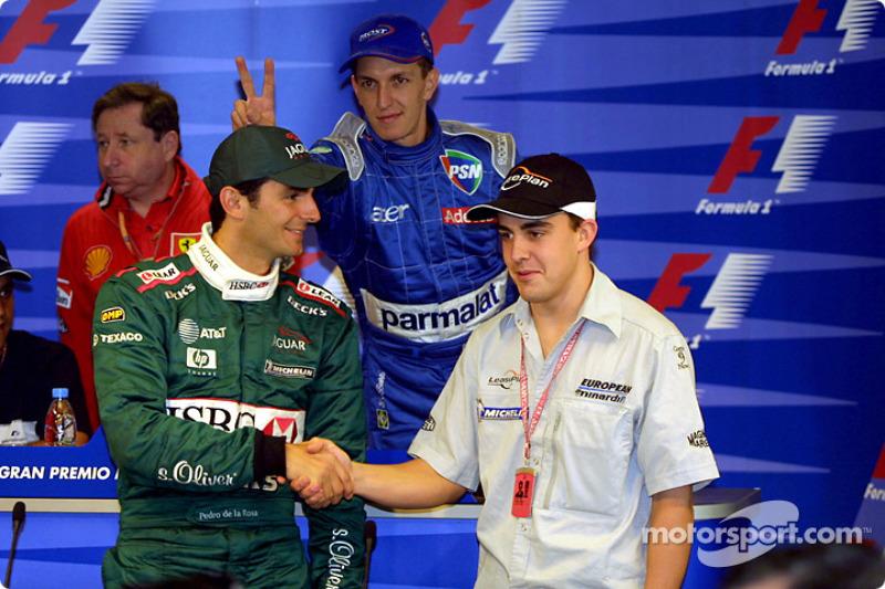 Conferencia de prensa del GP de España, Alonso y de la Rosa