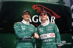 Pedro de la Rosa et Eddie Irvine