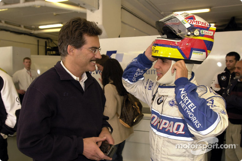 Dr. Mario Theissen and Juan Pablo Montoya