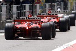 two Ferrari Cars