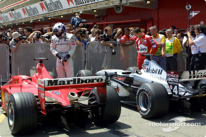Lindo Ferrari, Mr. Schumacher. Lindo McLaren, Mr. Coulthard