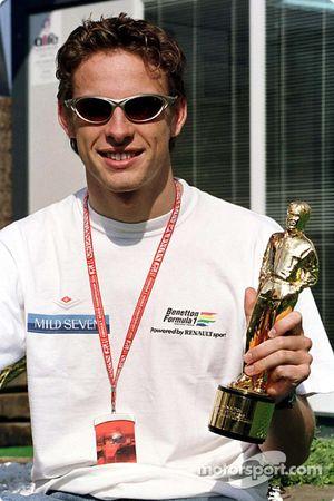 Jenson Button and his 'Bernie' award