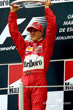 Michael Schumacher sur le podium