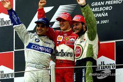 Podyum: Juan Pablo Montoya, Michael Schumacher ve Jacques Villeneuve