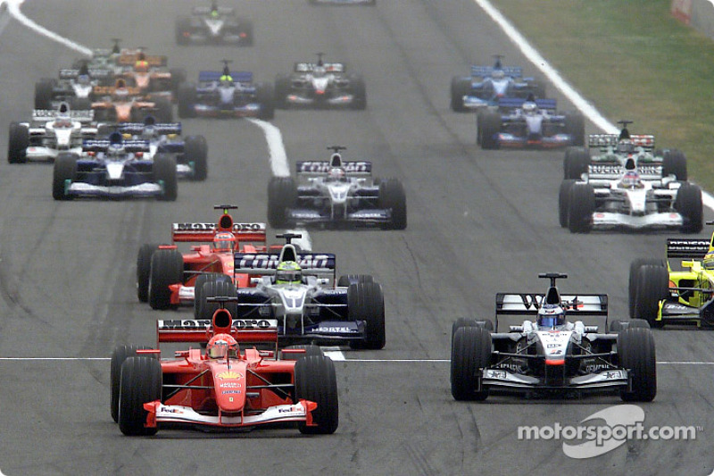 Mais voltas lideradas: Schumacher, com 5.111