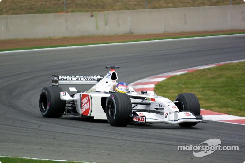 2001 - O primeiro Pódio da BAR Honda