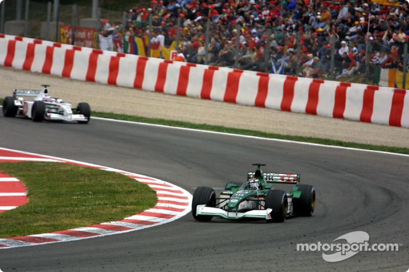 Eddie Irvine y Olivier Panis