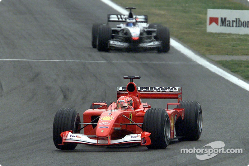 La batalla entre Michael Schumacher y Mika Hakkinen