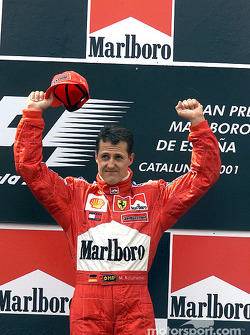 The podium: Michael Schumacher