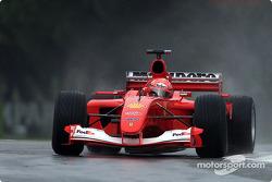 Michael Schumacher en la práctica matutina