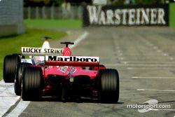 Battle between BAR and Ferrari