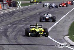 first few laps: Jarno Trulli ve Mika Hakkinen