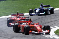 The Ferrari battling with super Kimi