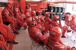 La tripulación Ferrari