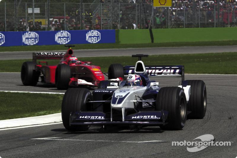 Juan Pablo Montoya y Rubens Barrichello