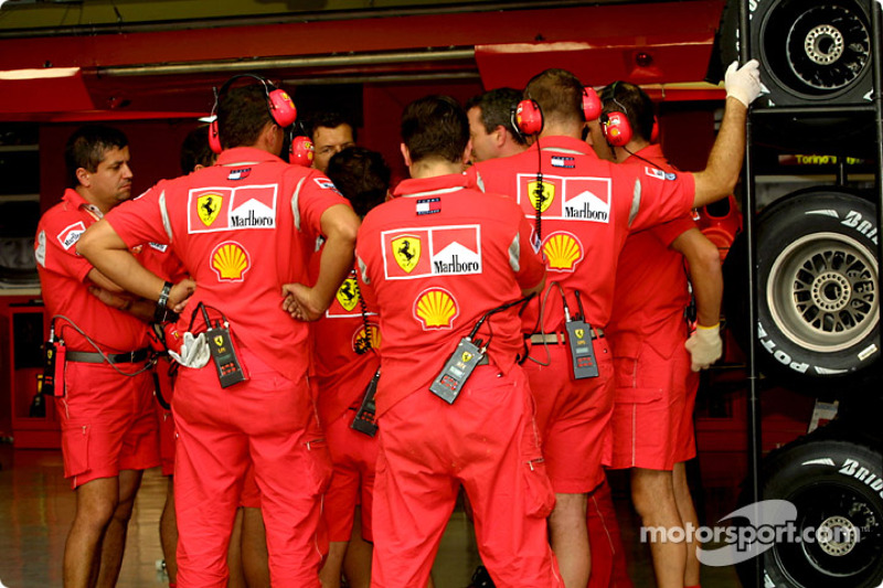 Ferrari briefing