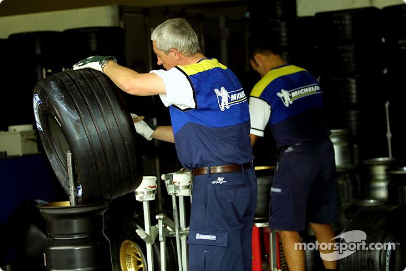 Michelin preparing tires