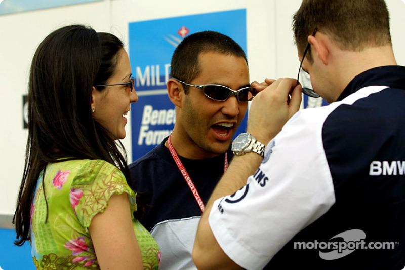 Juan Pablo Montoya having fun
