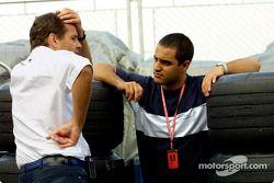 Gerhard Berger en Juan Pablo Montoya