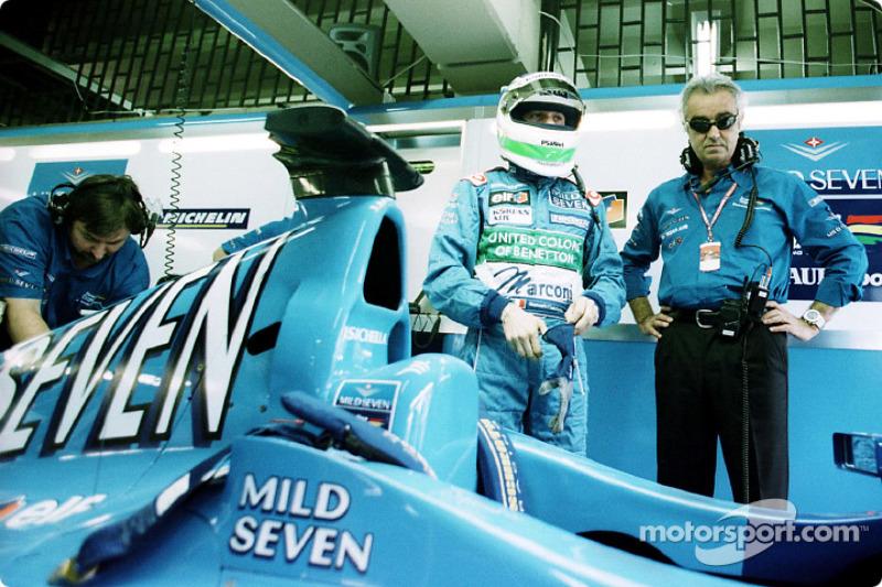 Giancarlo Fisichella and Flavio Briatore