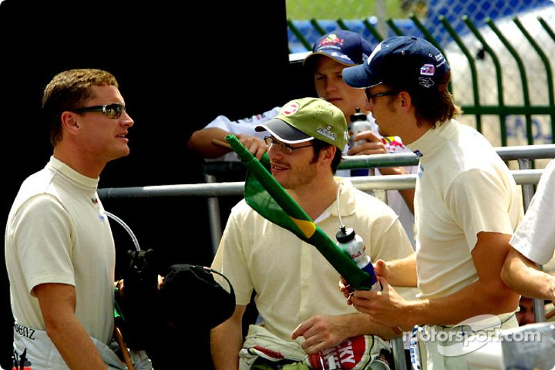 Drivers presentation: David Coulthard, Jacques Villeneuve and Jenson Button