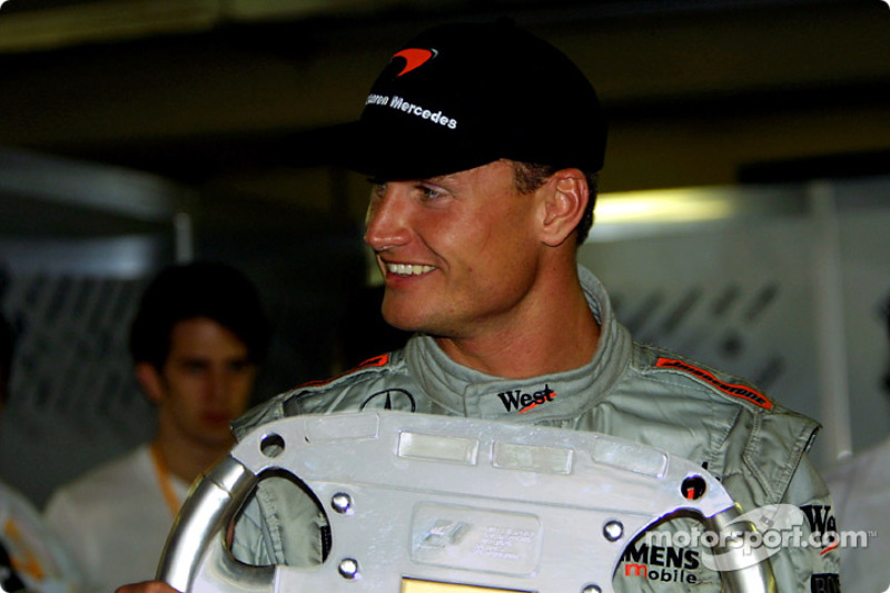 A special trophy for David Coulthard