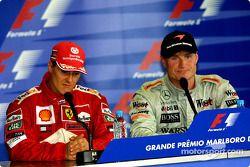 Conférence de presse : Michael Schumacher et David Coulthard