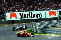 Michael Schumacher et Juan Pablo Montoya