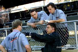 McLaren crew