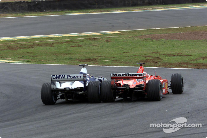 Michael Schumacher, Ferrari F1 2001, Juan Pablo Montoya, BMW Williams FW23