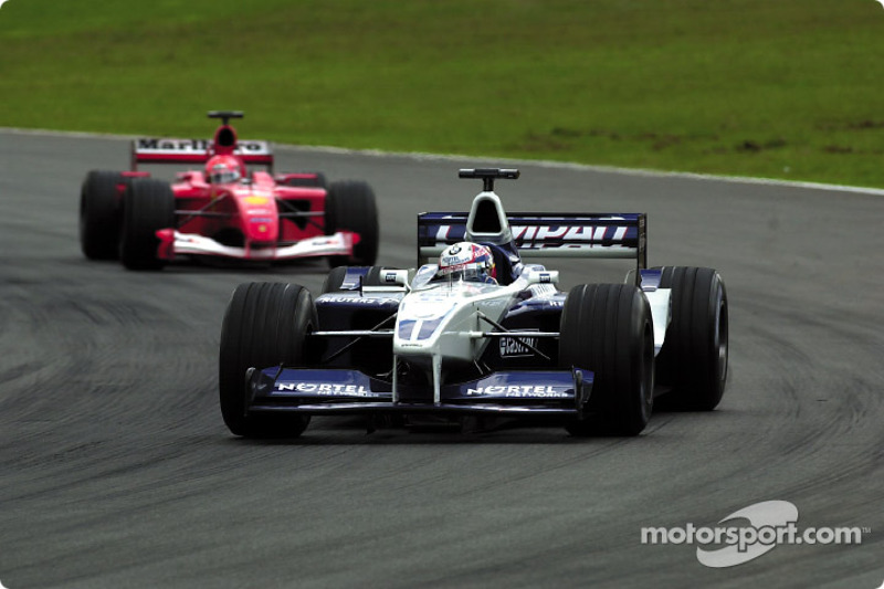 Juan Pablo Montoya, BMW Williams FW23, Michael Schumacher, Ferrari F1 2001,