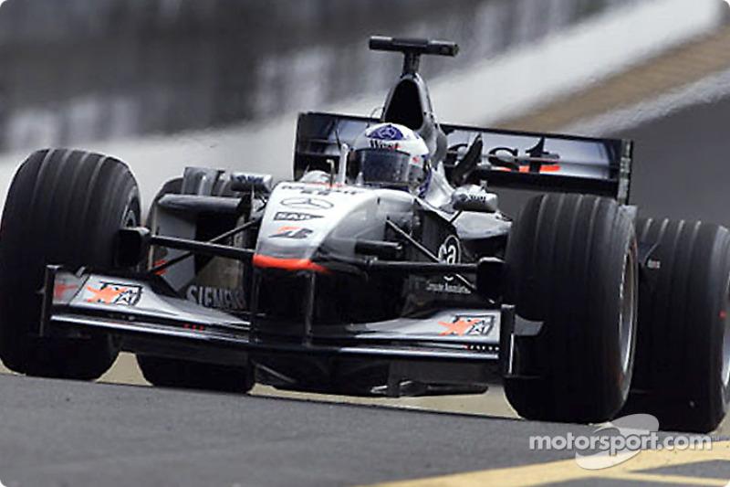 Race winner David Coulthard